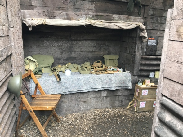 Sleeping quarters in the trenches - if you were lucky!